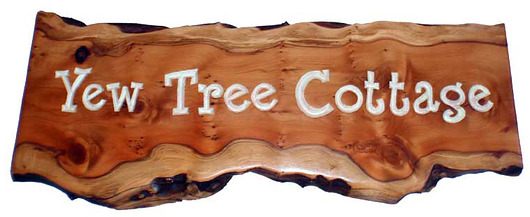 Yew Tree Cottage sign